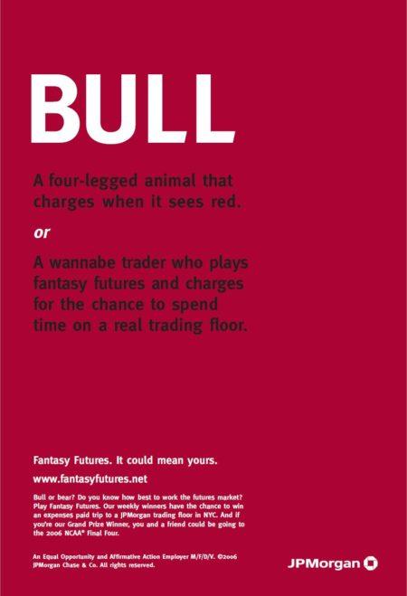 Ad forr JPMorgan's Fantasy Futures