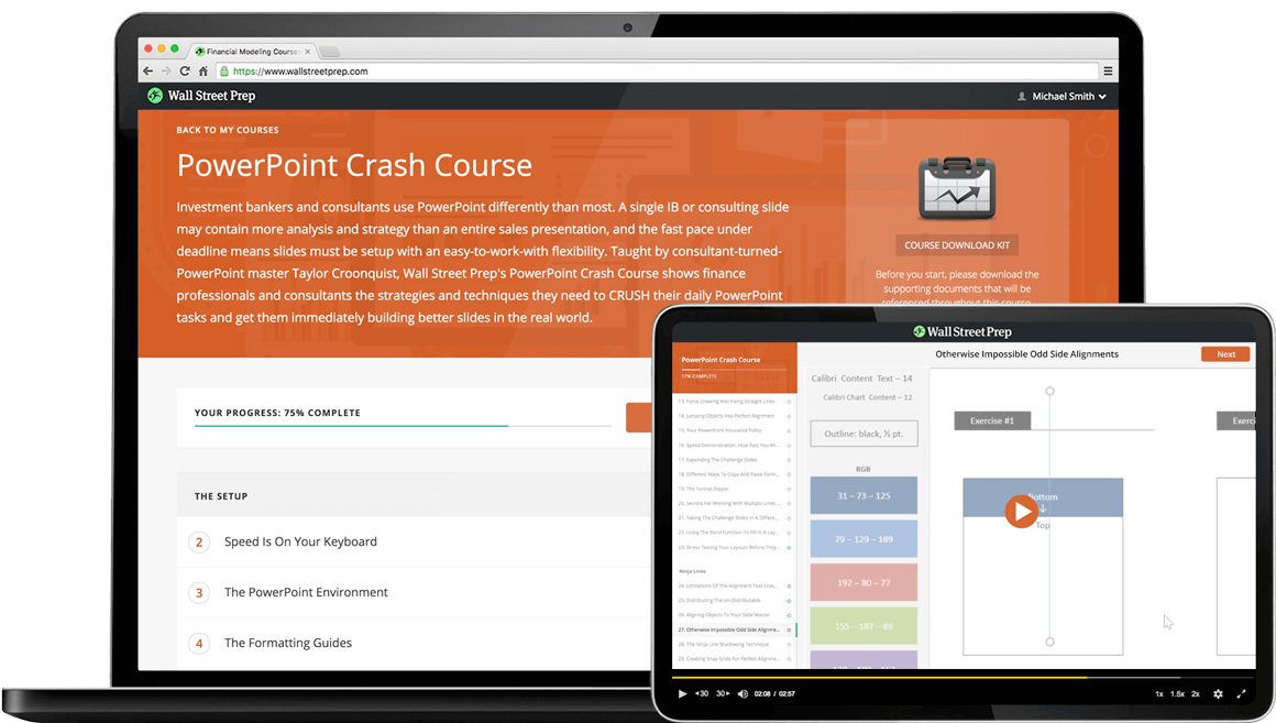Powerpoint Crash Course Wall Street Prep Wall Street Prep