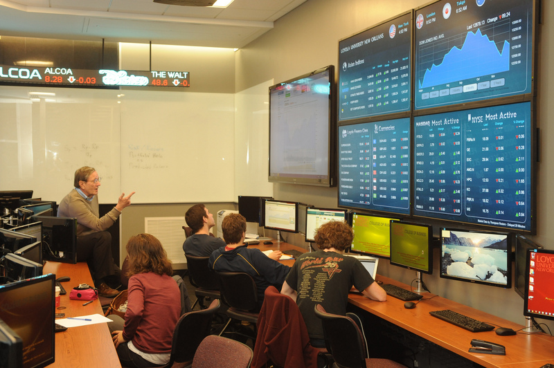 Loyola stock trading room