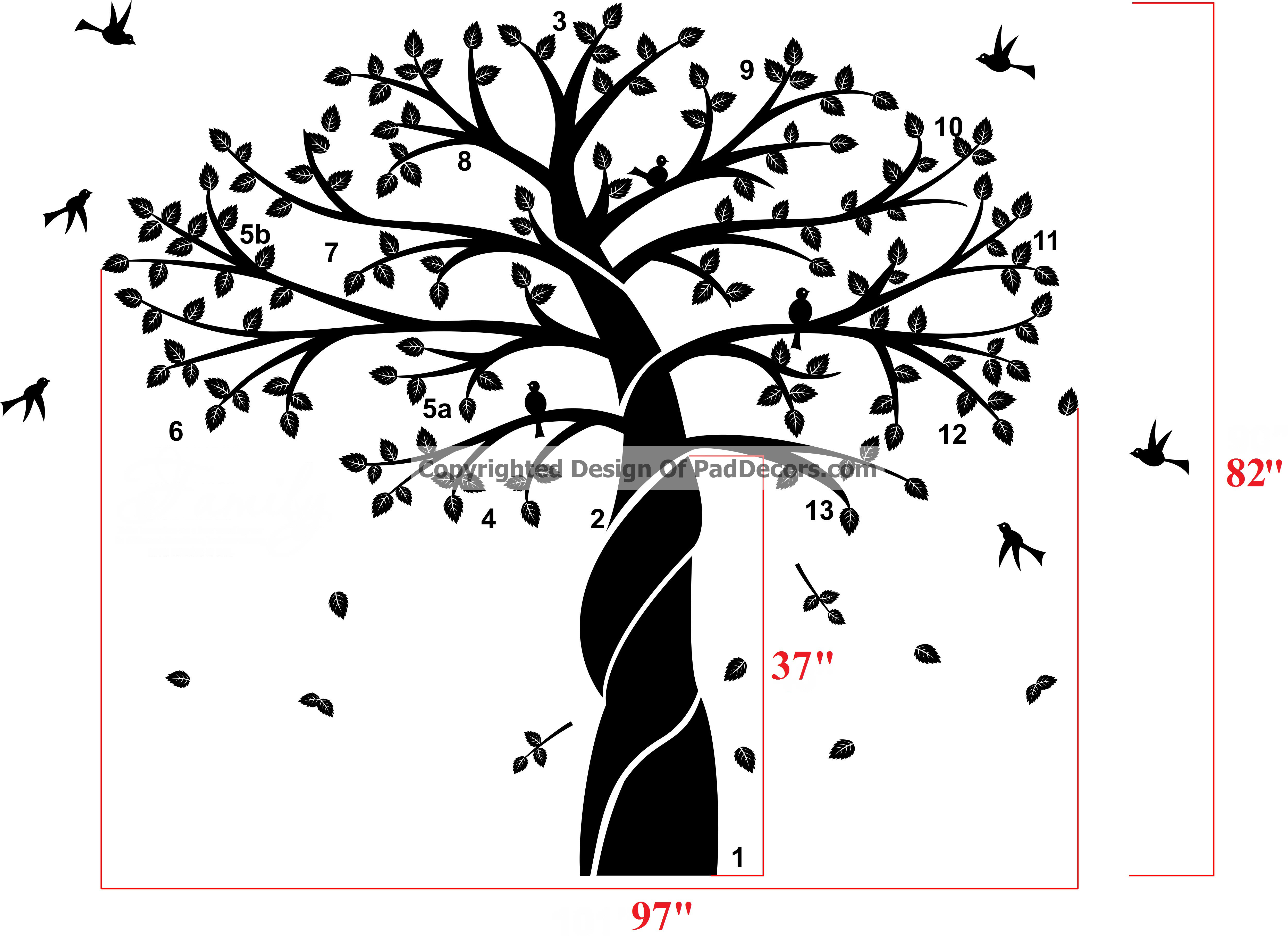 Family Tree Wall Decor Images : Family trees wall stencils car interior design