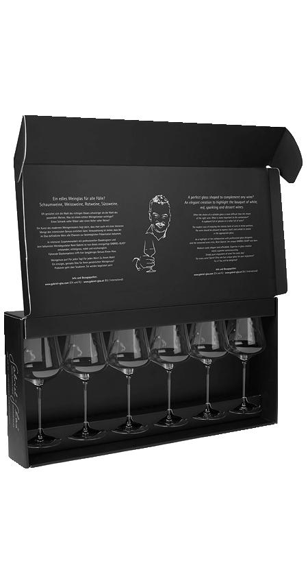 Set of 6 - Austrian Crystal Wine Glasses<br>