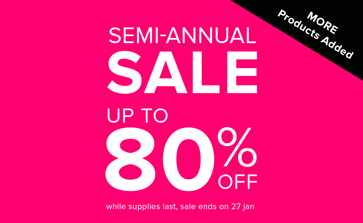 Up to 80% Off - Semi-Annual Sale
