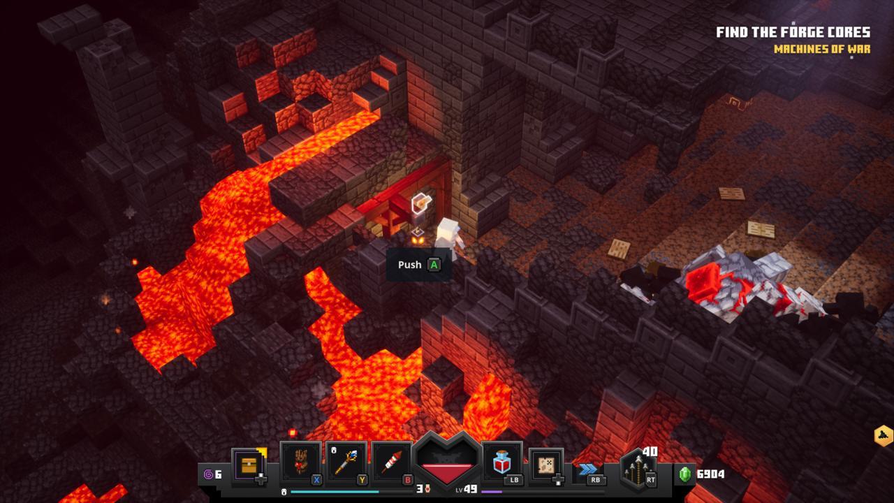 Runa da Forja Flamejante - Minecraft Dungeons