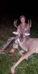 Annitta Robinson of Cross Lanes, W.Va. has had a rough year. She underwent two hip replacements, but says her husband still made sure she had a blind set up behind their house, where she was able to take this nice buck