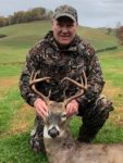 Bill Sparks of Buckhannon, W.Va. says it was a lucky morning for him when he got to take this eight point buck with his bow in 2019.