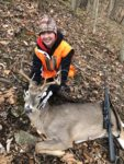 Braylie Wiseman, age 15, of with a first buck--an 8-pointer from the 2019 season.