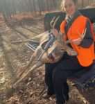 Brianna Walker, age 14, of Wardensville, W.Va.  with her first buck.  She killed it opening day of rifle season in Hardy County, W.Va.