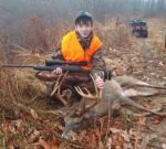 Caleb Morton, age 14, of Rosedale, W.Va. with a 14 point buck killed during the 2019 rifle season in Nicholas County, W.Va.