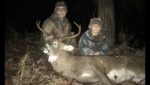 """Chrissy Lemasters and Jasi Butler of Buckhannon sat over a mock scrape and a prime feeding and doe bedding area to kill this beautiful 19"""" wide, Randolph County, W.Va. buck."""