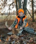 Damian Runner, age 13, of Aurora, W.Va. with his first buck killed during the Ohio youth season in 2019.