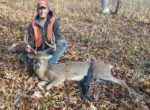 Daniel Deuly of Frametown, W.Va. shares a picture of what he called his  buck of a lifetime killed in Braxton County during the 2016 rifle season.
