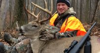 Tucker Groves, age 12, of Morgantown passed on several smaller bucks in pursuit of this nice 10 pointer which he got on Thanksgiving morning after four cold days of hunting.
