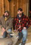 Frank Lewis (pictured right) shot this 19 3/4 wide 8 point while hunting in Hardy county WV on the opening evening of the 2019 buck firearms season. Pictured on the right is Jason Keplinger (landowner)