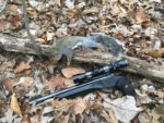 Geary Legg of Newton, W.Va. sends a cool picture of this gray squirrel he took on the Walback WMA during September 2019 hunting with his Thompson Contender in 22 LR.
