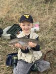 Gunner Ours of Petersburg, W.Va. caught his first trout while fishing in a creek near his family's farm in Grant County.