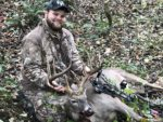 Hunter Kise of Jodie, W.Va. killed this 13 pointer with a bow during the 2019 season.  He didn't share the county