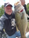 Jerod Harman caught this 6-pound, 13 ounce largemouth on a buzzbati at Stonewall Jackson Lake.   It was a fish which had been tagged by the WVDNR at least three years earlier.
