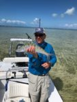 John Eary of Summersville, W.Va. is an avid fly fisherman who always wanted to fish the flats for bone fish.  As you can see, he got the chance during a recent trip to the Bahamas.