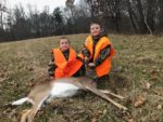Johnny Casey, age 7, with his first deer killed in Mason County, W.Va.