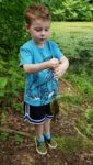 Andrew Glasscock sends along this pic of his grandson Kolton.  Kolton caught this lunker, his first fish, while fishing in a private pond back in June 2019, in South Charleston using a worm.