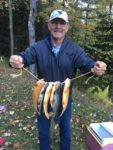 Lee Samsell of Morgantown had a good day of trout fishing in the Smoke Hole Canyon during the 2019 fall trout stocking