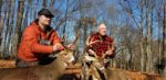 Logan Hosaflook and his grandfather Jerry Hosaflook doubled up on opening day 2019. Grandpa's buck was the biggest deer to ever come off our family farm in Doddridge County, W.Va.  and the biggest buck of his life at age 72.