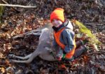 Mason Ewing, age 7,  of Lubeck, W.Va.  with his first deer taken with a .223 rifle on the first morning of the 2019 buck season.