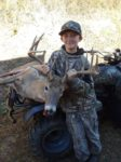 Mason Tiffner, age 12, of Pickens, W.Va. killed his first big buck with a bow while hunting in Logan County in 2019.