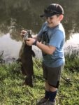 Philip Mullenax of Phillippi, W.Va. sends along this picture of a young man named Remington and his first catfish.