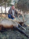 Rick Mallory of South Charleston, W.Va. received a guided elk hunt in Missouri as a birthday present from his daughter Kristina. This is how it turned out...nice present!!!!!