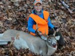 Saylem Blake, age 12, of Oak Hill, W.Va. with his first ever buck, killed in Doddridge County, W.Va. on opening day of the 2019 buck season