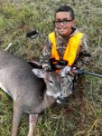 Terry Osborne of Given , W.Va. killed his first deer during the early antlerless hunting season in West Virginia in October 2019.