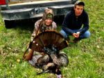 Tiffany Warner, age 16, of Riverton, W.Va. with a spring gobbler killed during the 2020 season.   The bird had a 10 and 1/4 inch beard and one inch spurs