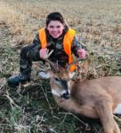 Tighe Martin. of Dunbar, Pa. lost his dad in a hunting accident a y ear ago.  Despite the emotional difficulty, Tight's mom took him hunting this year and with dad watching somewhere, Tighe killed this nice buck in Green County, Pa.
