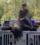 Ty Finster, age 11, of Thornton, W.Va. killed this 350 pound bruiser on his first ever bear hunt in 2019