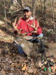 William Carney with a 14 point buck killed in Kanawha County, Carney said it was the biggest buck of his life.