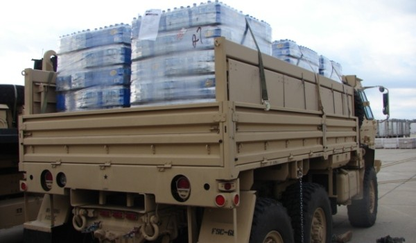 The West Virginia National Guard distributed water from FEMA after the Derecho and Sandy disasters. They will do the same Friday.