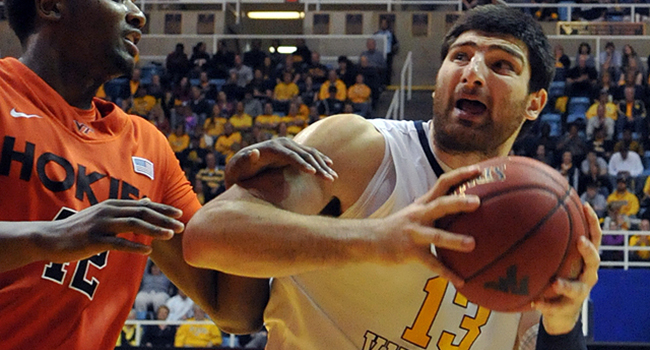 West Virginia forward Deniz Kilicli is shooting only 39 percent this season.