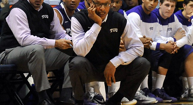 TCU head coach Trent Johnson saw his team fall to 0-6 in Big 12 play.