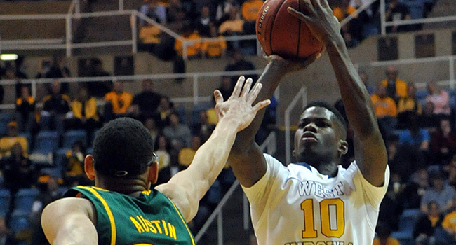 """West Virginia sophomore guard Eron Harris said he's looking forward to playing """"all the teams that beat us"""" last season."""