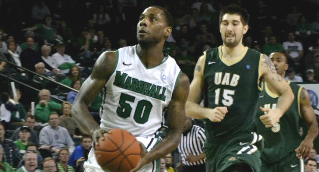 DeAndre Kane (50) has opted to pursue other opportunities rather than come back to Marshall for his final season.