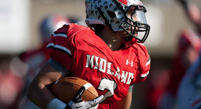 Cabell Midland running back David Gaydosz signs with Coastal Carolina.