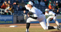 Aaron Blair tossed two-hit ball over eight innings and struck out 11 as Marshall beat Houston 4-0 Saturday to win their weekend series. Houston avoided the sweep with a 9-1 win Sunday.