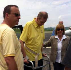 Willie Akers returned home Friday to Logan County.