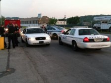 Charleston Police on the scene where bystanders found a toddler walking in a vacant parking lot at 6am