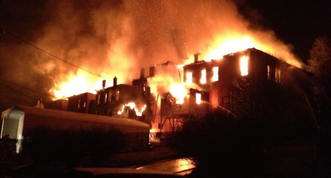 The late-Feb. destroyed the apartments on Brick Row in Hinton.