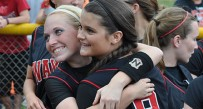 Wayne High School players celebrate after their 5-1 win over James Monroe in the Class AA softball state final.