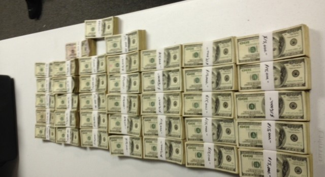 Wyoming County sheriff's deputies found $570,000 in cash when a safe was cracked Wed. night in a drug bust from a week earlier.