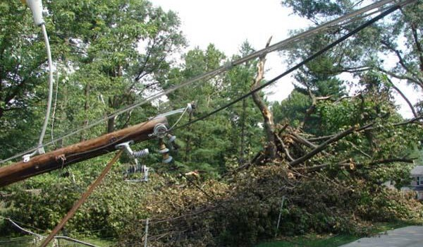 The aftermath of the 2012 derecho, a scene in Charleston which mirrored many time across West Virginia including in the Mon Power and Potomac Edison service areas.