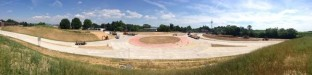 A wide view of the 705/Mileground roundabout set to open soon in Morgantown.